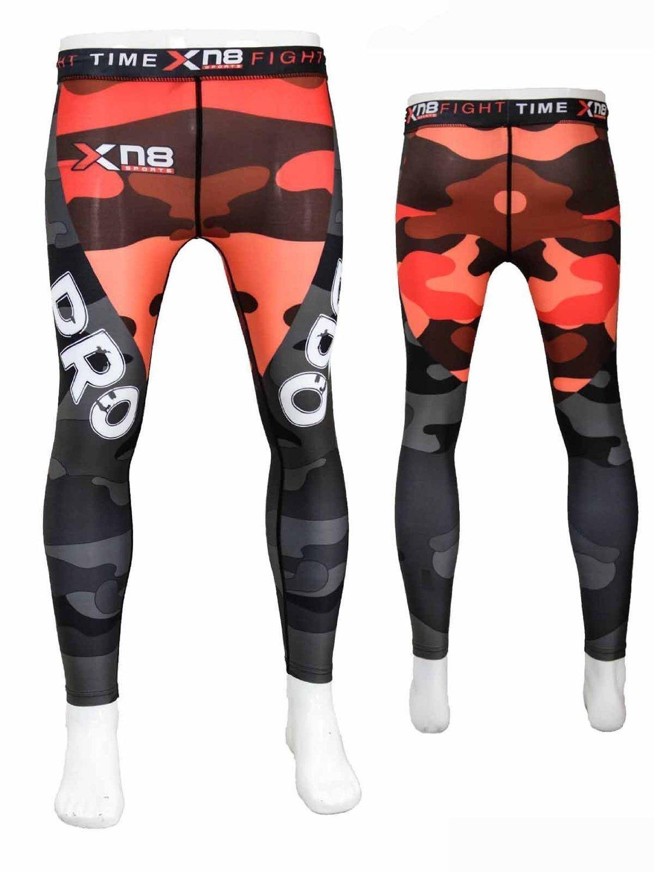 Authentic Xn8 Men Leggings Tights Rash Guard Running Yoga Compression  Grappling Trouser Cross-Fit Gym Boxing UFC Wear Pilates Dance