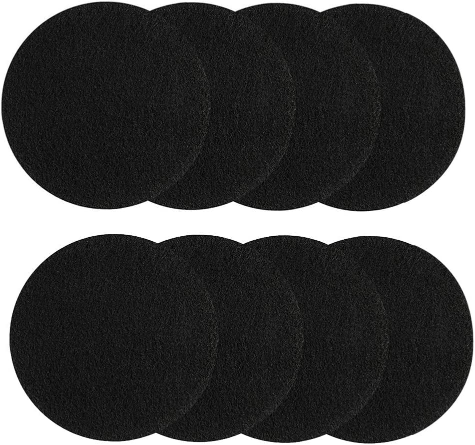 KUUQA 8 Pieces Compost Bin Filters for Kitchen Compost Pail Replacement Charcoal Filters, 7.25 inches round