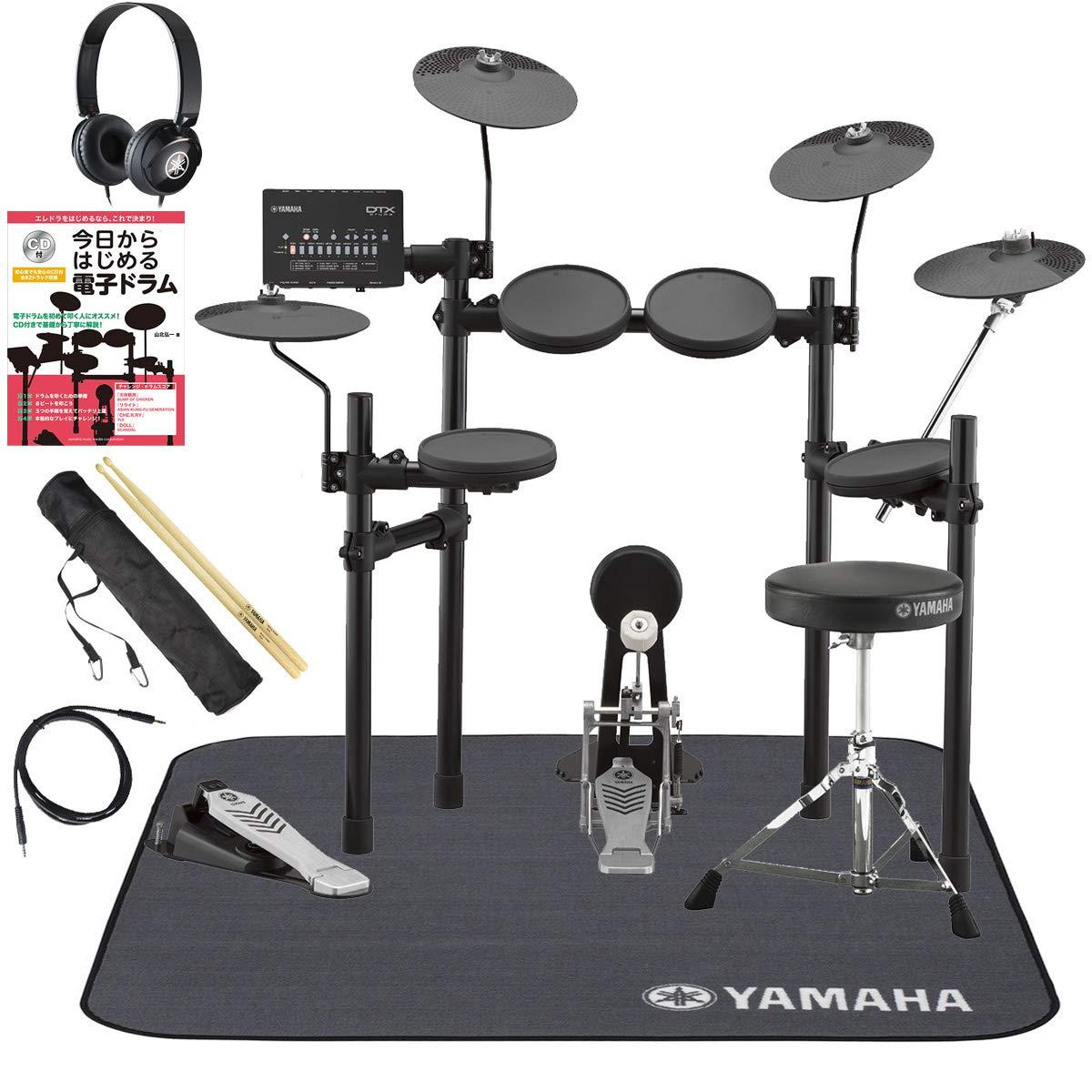 YAMAHA DTX432KUPGS 3シンバル ヤマハ純正スターターパックと電子ドラム教本セット   B07GB7C1JD