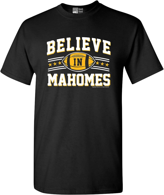 Believe in Mahomes Kansas City Football Fan Wear DT Adult T-Shirt Tee
