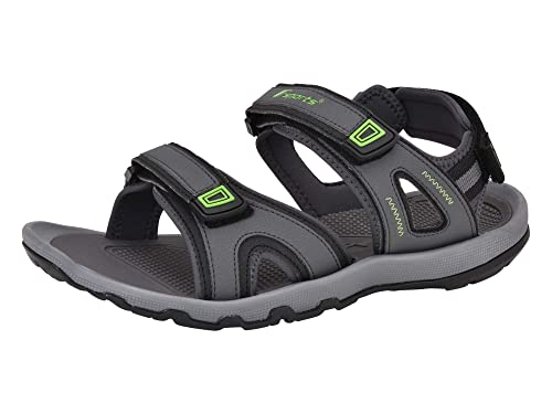 e10a5a9ab6b0ed Fsports Mens Grey Green Colour NEXON Series Synthetic Casual Sandal  Buy  Online at Low Prices in India - Amazon.in