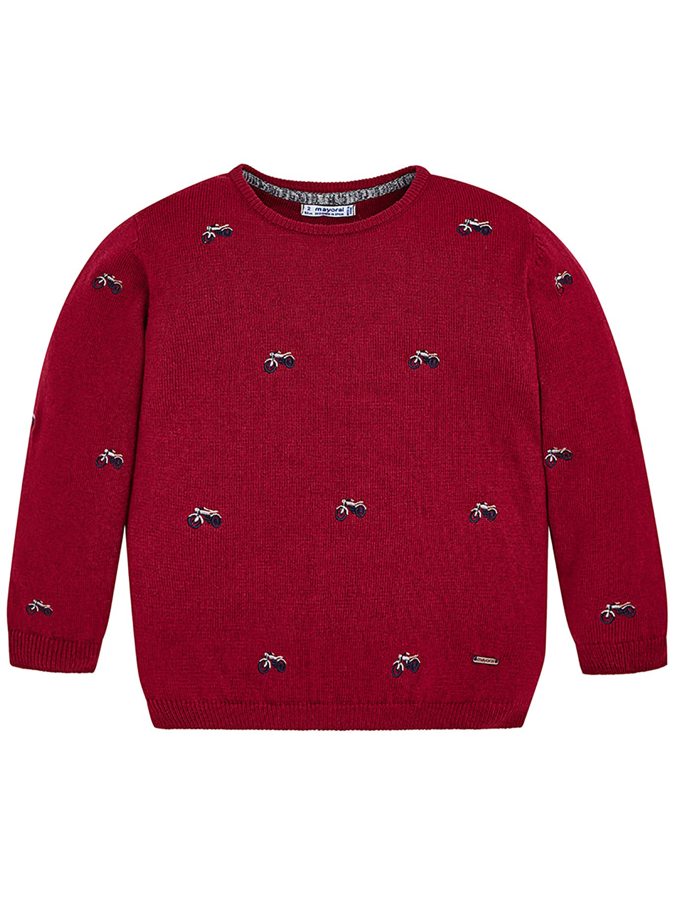 Mayoral 18-04306-030 - Jeresey for Boys 9 Years Red Wine