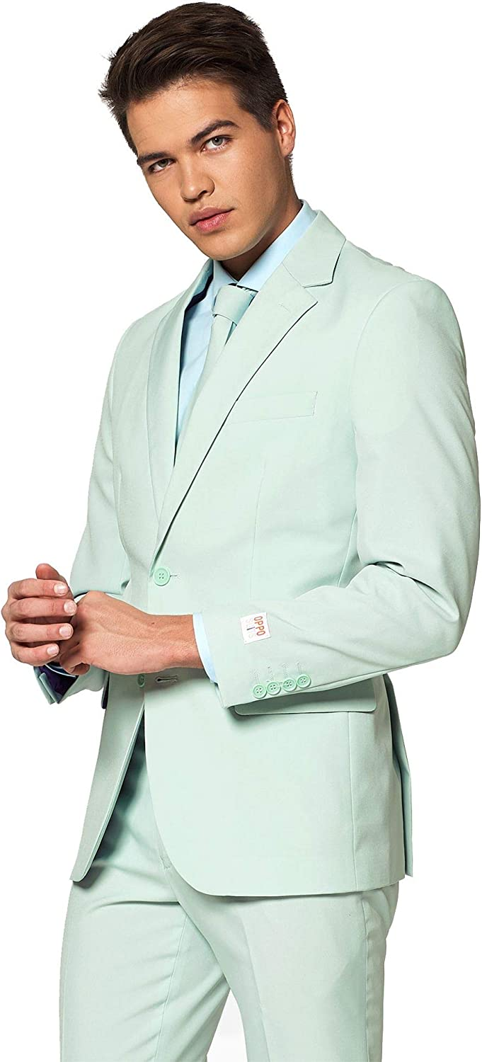 OppoSuits Mens The Blue Party Costume Suit