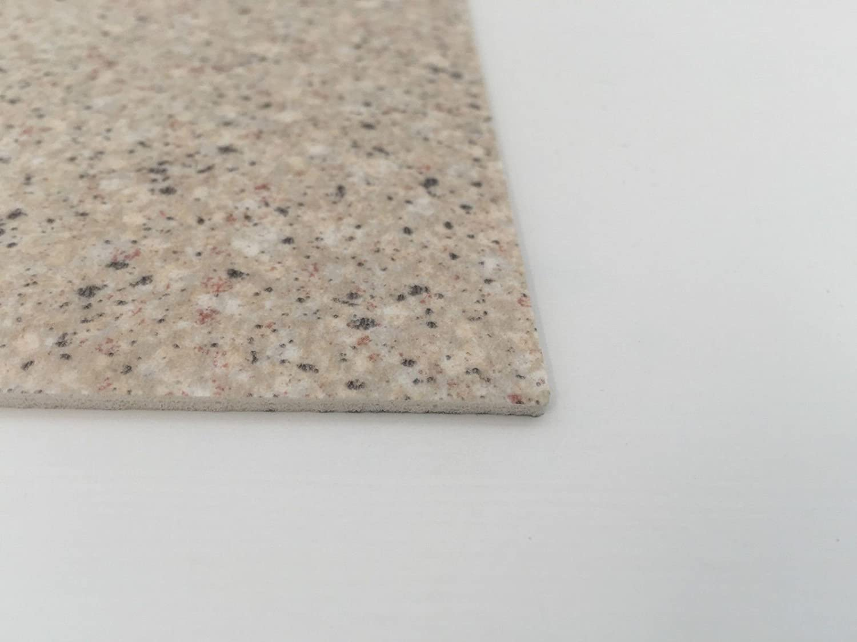 CV-Boden wird in ben/ötigter Gr/ö/ße als Meterware geliefert rutschhemmend /& pflegeleicht PVC Vinyl-Bodenbelag in Granit hell Optik CV PVC-Belag verf/ügbar in der Breite 300 cm /& L/änge 300 cm