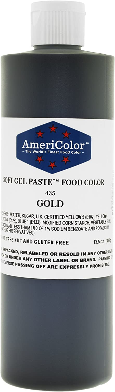 AmeriColor Gold Soft Gel Paste Food Color, 13.5 Ounce