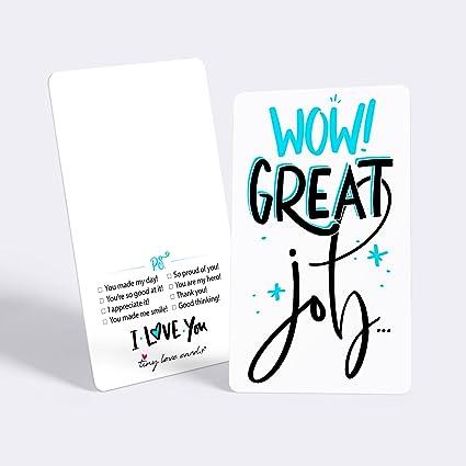 "Amazon Tiny Love Cards Set Of 60 Cute Mini ""Great Job Amazing Inspirational Love And I Appreciate You"