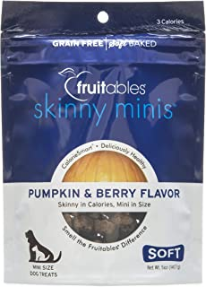 product image for Fruitables: Skinny Minis Pumpkin and Berry Soft & Chewy Dog Treats, 5 oz