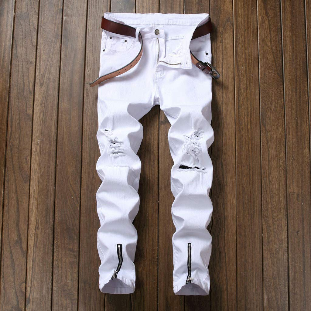 Amazon.com: Pantalones vaqueros de moda para hombre ...
