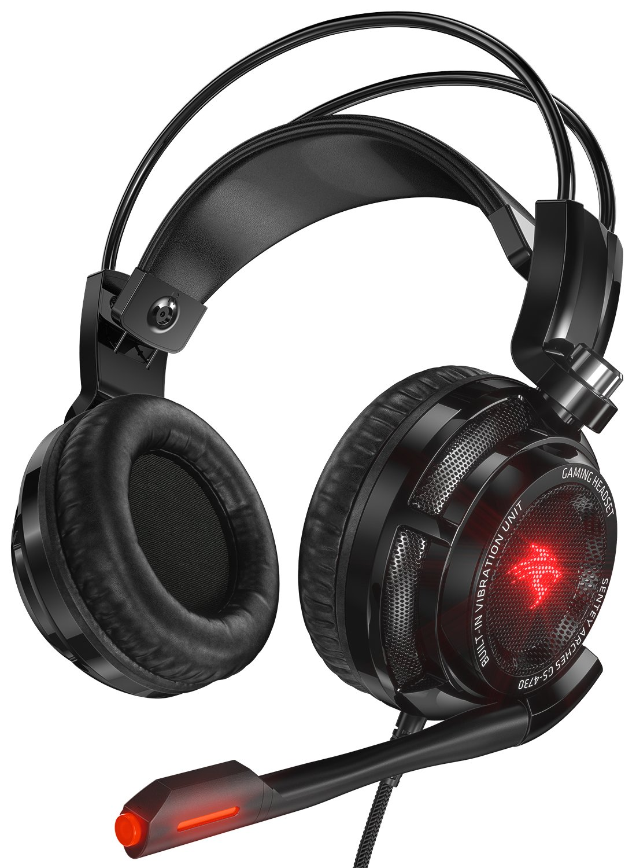 Amazon.com: Sentey GS-4730 Virtual 7.1 USB DAC Gaming Headset Arches ...