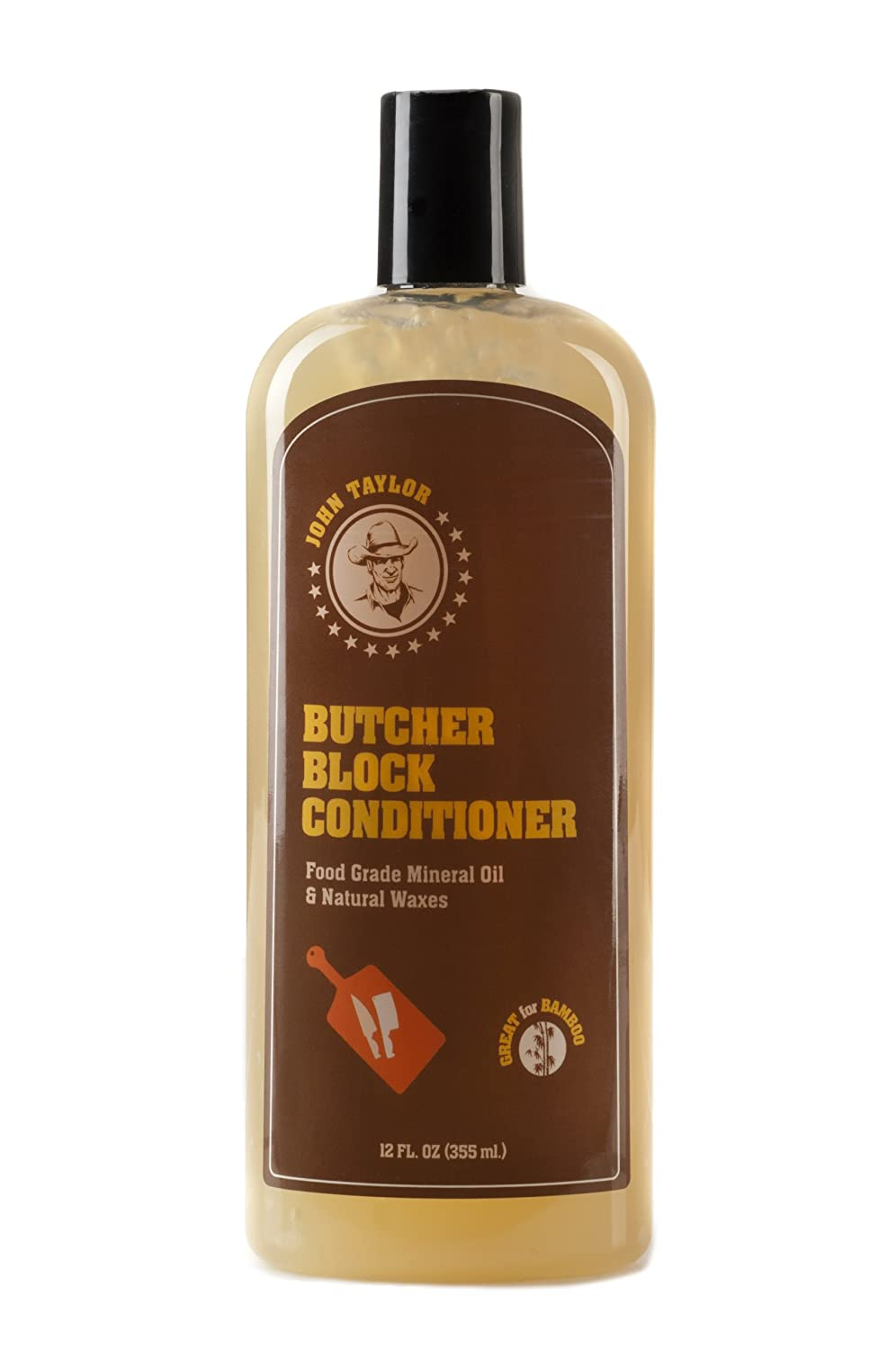 Com John Taylor Butcher Block Conditioner Food Grade Mineral Oil And Natural Wa 12 Fl Oz 355ml Kitchen Dining