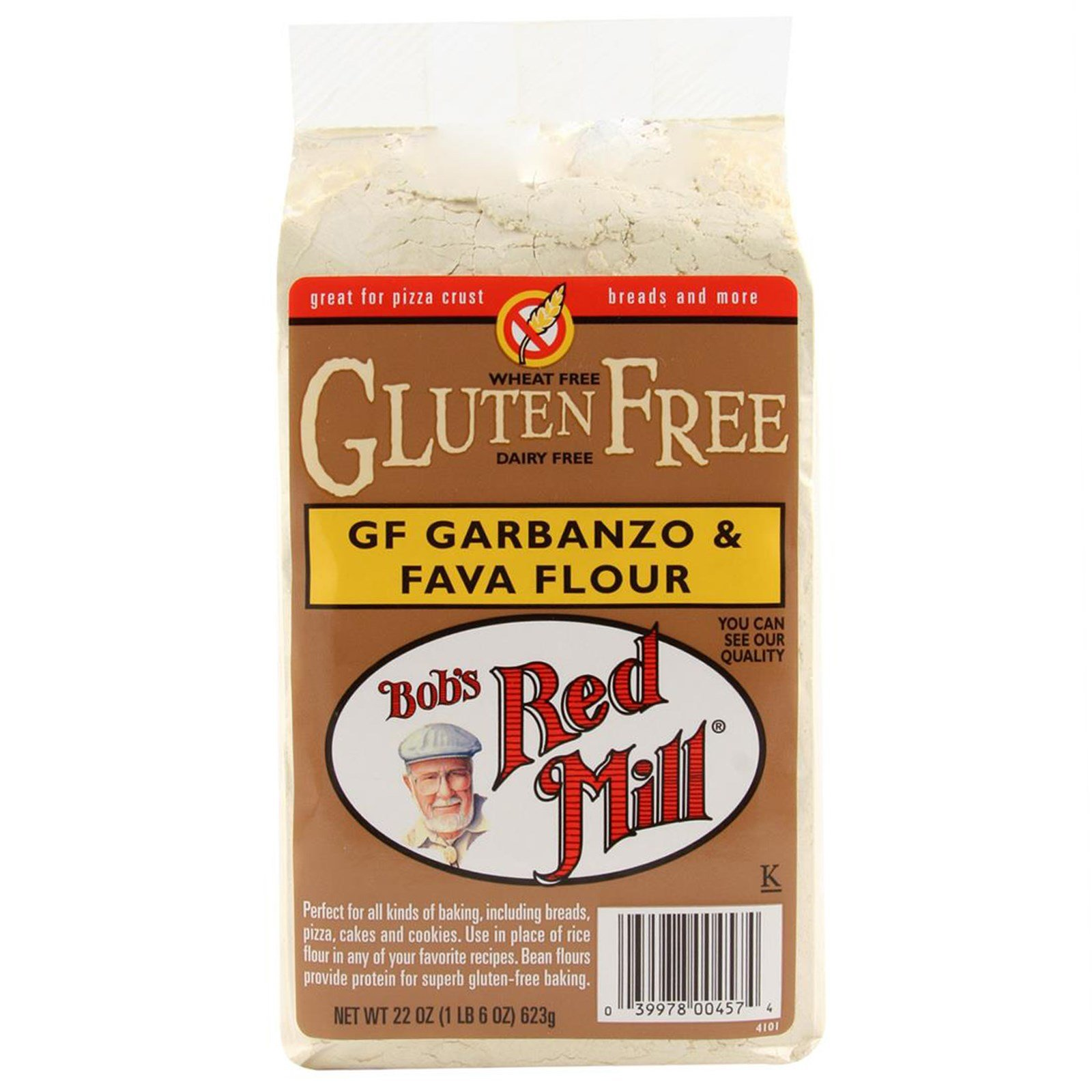 Bob's Red Mill, Garbanzo & Fava Flour, Gluten Free, 22 oz(Pack of 3)