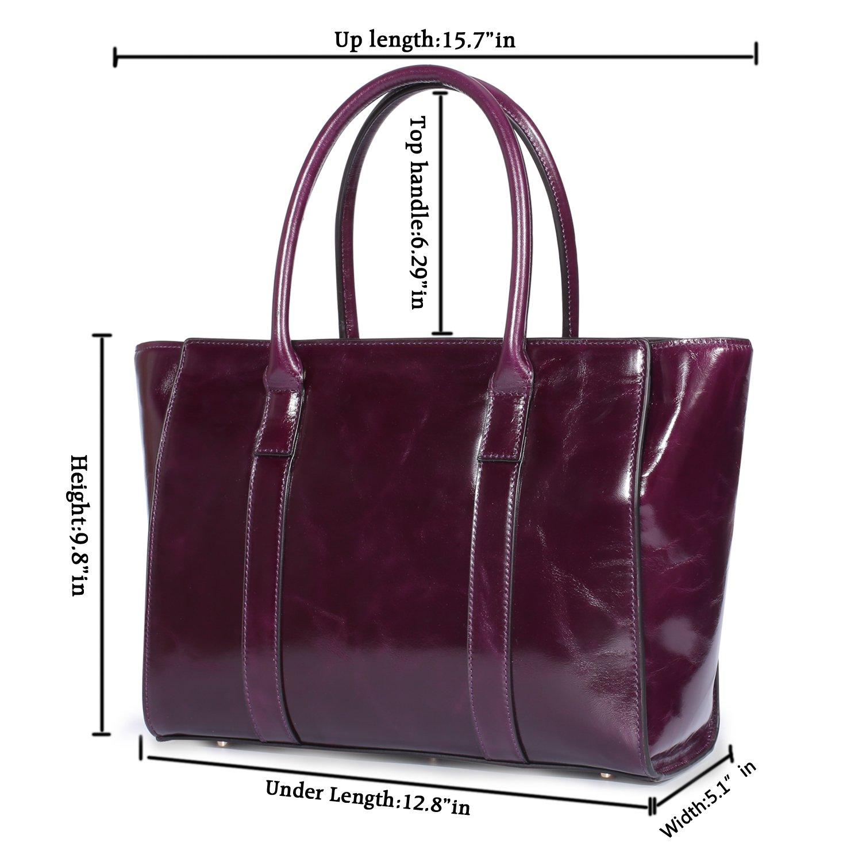 2bc79d74013 Yafeige Women Top Handle Satchel Handbags Vintage Leather Tote Purse  Shoulder Bag Cross Body Handbag(Purple)