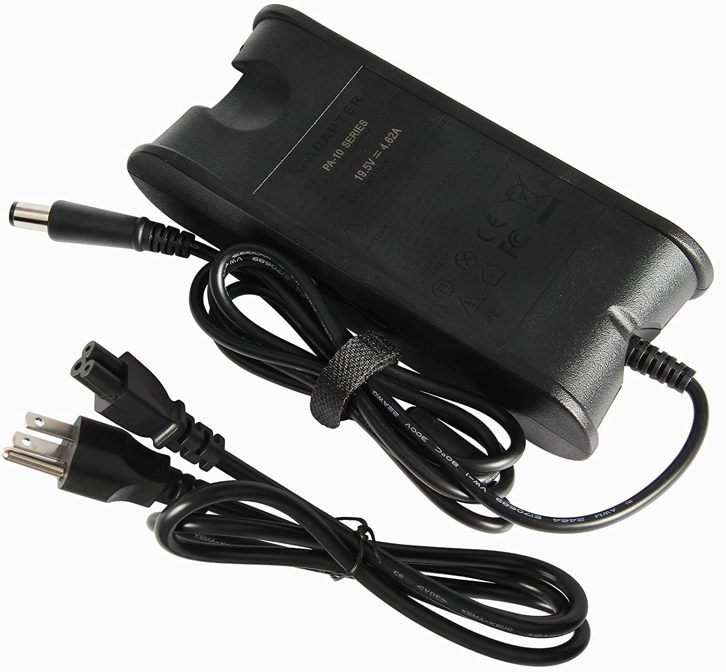 19.5V 4.62A 90W AC Adapter Charger Power Supply Cord for Dell PA10 P28F P39F P22T P10F P40F P72G P40G P63G P60F P62G P61G P28S P22S P15G P35G P37G P45G P44G P41F P49G P47G P46G P73G P79G P78 7.4x5.0mm