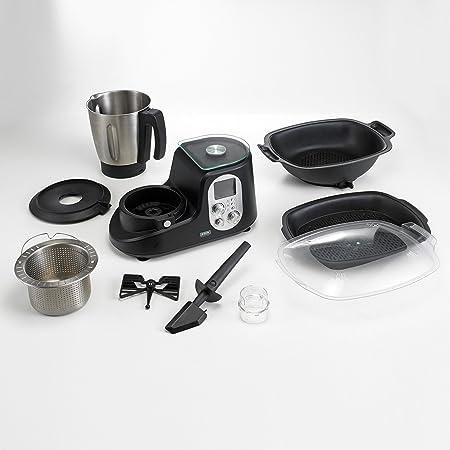 Beem Thermostar Mix & Cook - Robot de cocina, LCD, 1200 W, 2 l, bascula, color plateado y negro: Amazon.es: Hogar