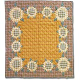 Patch Magic 85 by 95-Inch Sunflower Quilt, Queen