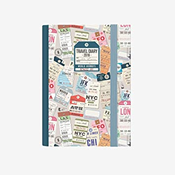 Agenda diaria vínculos 2019 12 meses 14 x 10 cm Travel Diary ...