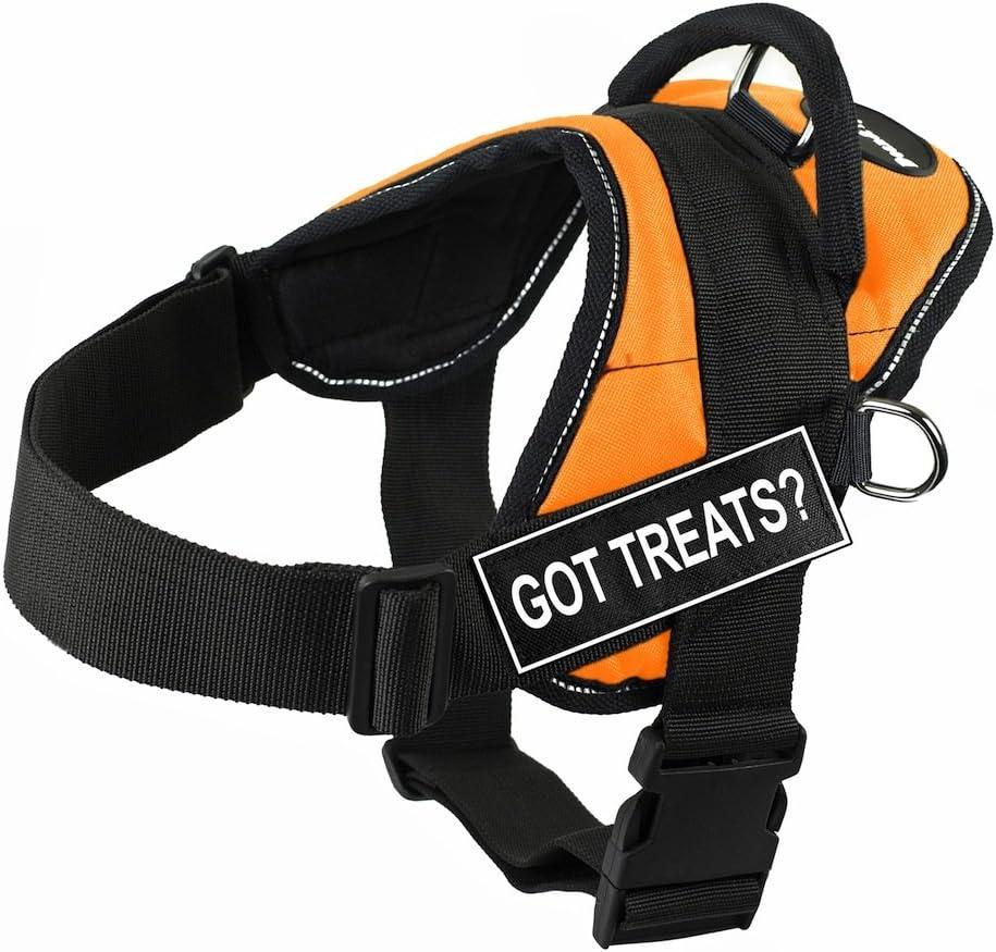 B00HSE0PLU Dean & Tyler DT Fun Got Treats? Harness with Reflective Trim, Small, Orange 71TrSfsTruL.SL1280_