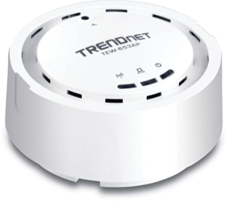 TRENDnet Wireless N 300 Mbps 18 dBm High Gain Ceiling Mount PoE Access  Point, WDS and Repeater, WMM, QOS, SNMP Support , Individual VLAN up to 4  SSID