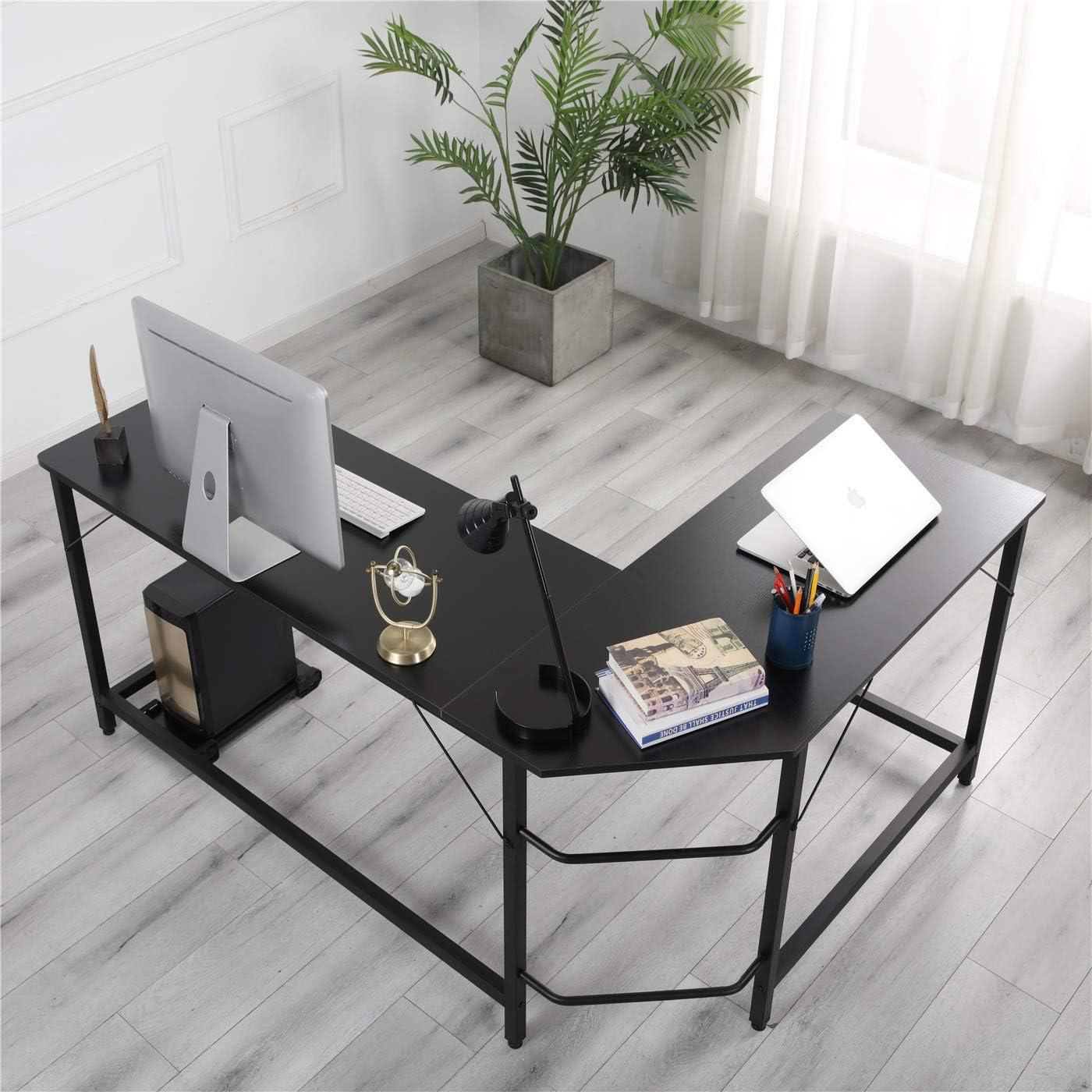 ANVAVA L-Shaped Desk 66 Inch Corner Computer Desk