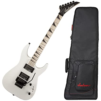 Amazon.com: Jackson JS32 Dinky DKA-M Snow White Electric Guitar w/ Gig Bag: Musical Instruments