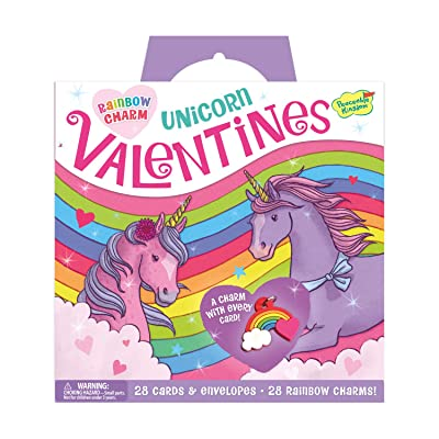Peaceable Kingdom Rainbow Charm Unicorn Valentines - 28 Card and Envelope Pack: Toys & Games