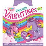 Peaceable Kingdom Rainbow Charm Unicorn Valentines - 28 Card and Envelope Pack