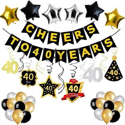 Amazon.com: Jblcc – Decoración para fiesta de 40 cumpleaños ...