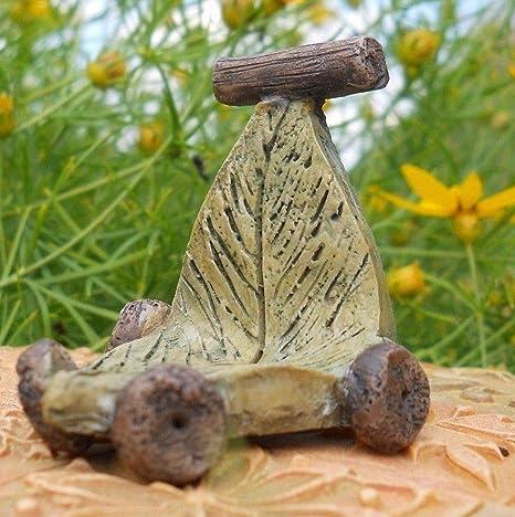 Patinete en miniatura con forma de hoja de hada y gnomo para ...