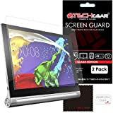 """[2 Pack] TECHGEAR® Lenovo Yoga Tablet 2 10"""" (Yoga 2 10.1 inch Tablet) ULTRA CLEAR LCD Screen Protector Gaurd Covers With Screen Cleaning Cloth & Application Card"""