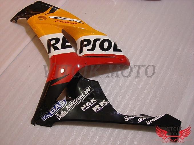 VITCIK (Kit de Carenado para CBR1000RR 2006 2007 CBR1000 RR 06 07) Accesorios de Repuesto para Bastidor y carrocería con(Naranja & Rojo) A088: Amazon.es: ...