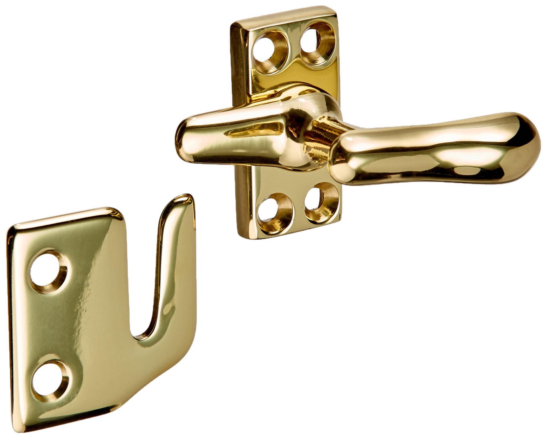 Baldwin 0492030 Casement Fastener, Bright Brass