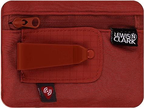Lewis N. Clark RFID Hidden Clip Stash Money Belt Travel Pouch + Credit Card/Id Holder for Women & Men, Rust, One Size