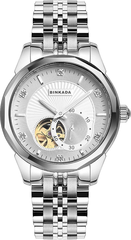 BINKADAラグジュアリー自動機械ホワイトダイヤルメンズ腕時計# 808901 – 1 B00Y7ON3SG