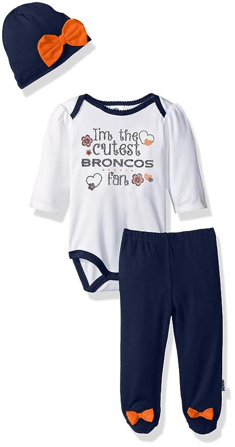 NFL Denver Broncos Baby-Girls Bodysuit 563933058