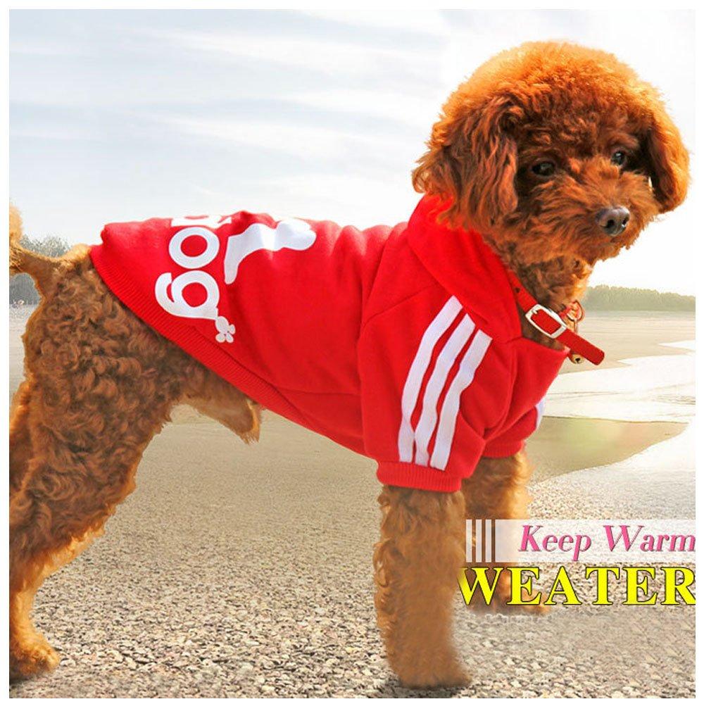 Eastlion adidog Large Dog Warm Hoodies Coat Clothes Sweater Pet Puppy T Shirt Black 6XL