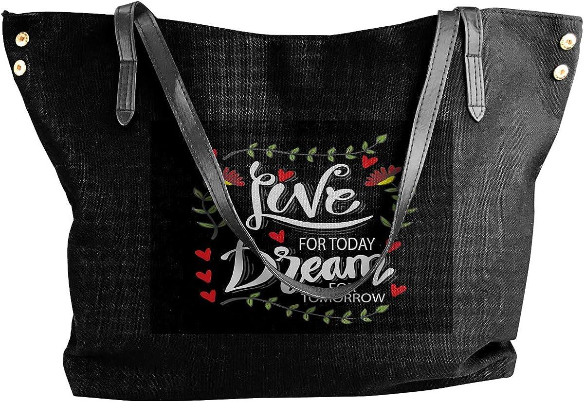 Fashion Live Today Dream Tomorrow Bolso de lona para llevar ...