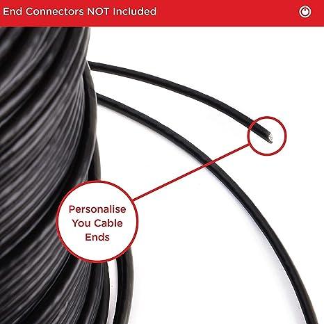 Duronic CAT6a 3m Nero Cavo di rete Ethernet crossover PoE schermato CAT6a SF//FTP