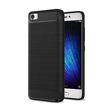 Msk Xiaomi Mi 5 Hulle Ledertasche Weiche Silikon Smartphone Schutzhulle Kohlefaser TPU Bumper Case