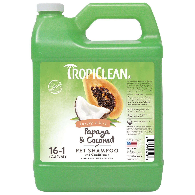 TropiClean Papaya and Coconut Pet Shampoo Odetta 20 oz. 840240