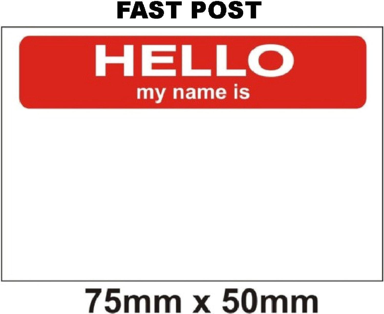 BLACK FSSS Ltd Hello my name is stickers x 100 75 x 50mm!