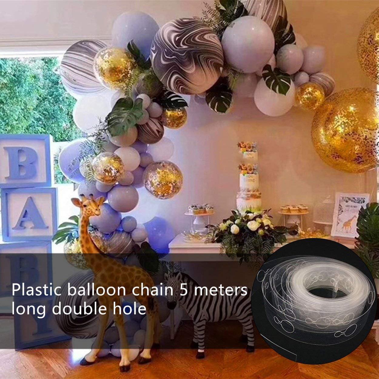 Anam Safdar Butt Cha/îne de Ballon en Plastique 5 m/ètres de Long Filet de d/écoration de Ballon Rouge cha/îne de Mariage Outils de Fixation de Ballon Ballon Disposition de Salle de Mariage