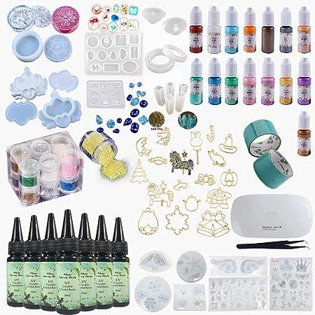 Resina UV DIY cristal epoxi forma Multi est/ándar Hemisph/äre colecci/ón forma redonda bola colgante joyas formas de silicona