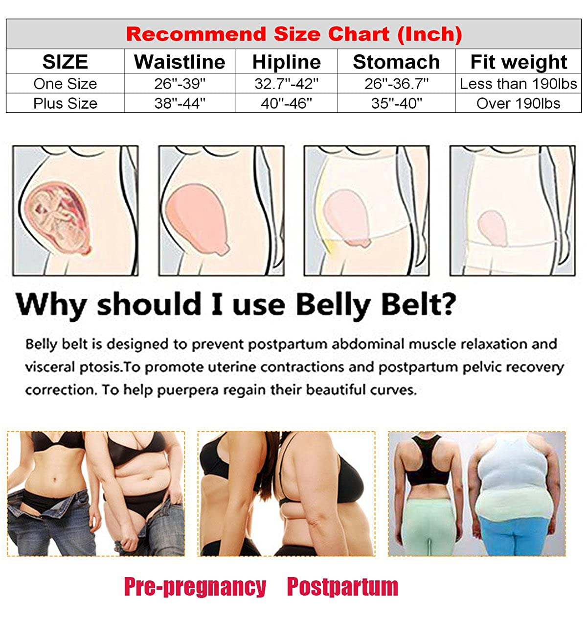 3 In 1 Postpartum Support Recovery Girdle Corset Belly Waist Pelvis