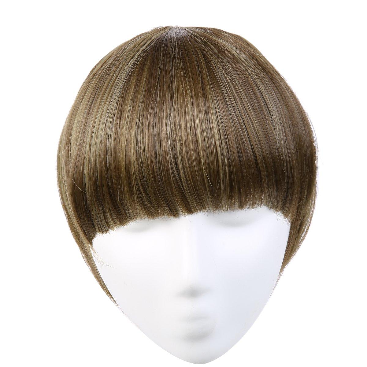 Amazon Sarla Synthetic Hairpieces False Bangs Hair Extensions
