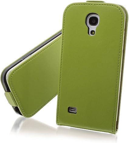 XAiOX Galaxy S4 Mini Flip - Funda para teléfono Samsung GT-i9190, GT-i9195 y Galaxy S IV (cuero) verde: Amazon.es: Informática