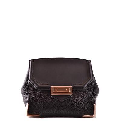Alexander Wang Women's MCBI335034O Black Leather Shoulder Bag