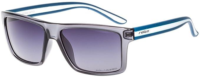 Sonnenbrille Damen Herren Unisex RELAX Icaria R2306/Polarisierte Gläser (Schwarz / Rauch Gradient POLARISIERTE R2306A) p5rsG