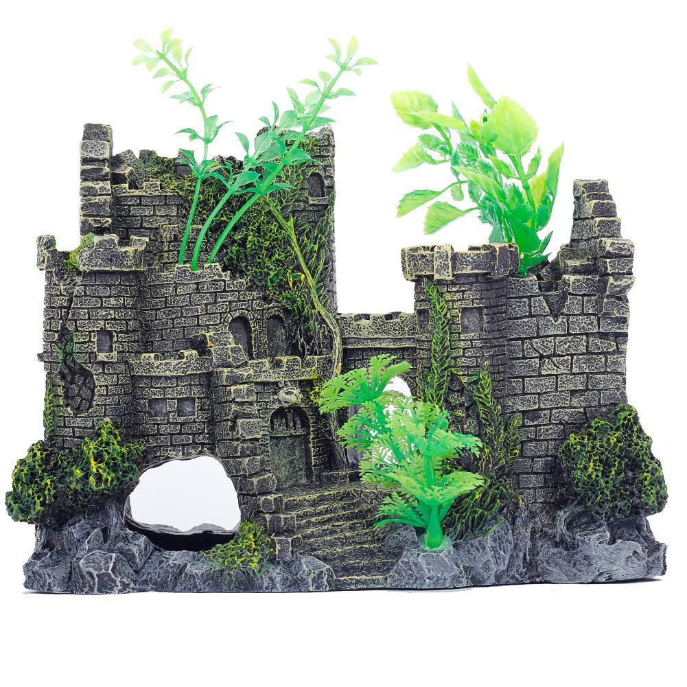 Big2 Miracliy Aquarium Decorations Castle, Aquarium Ornament Super Castle