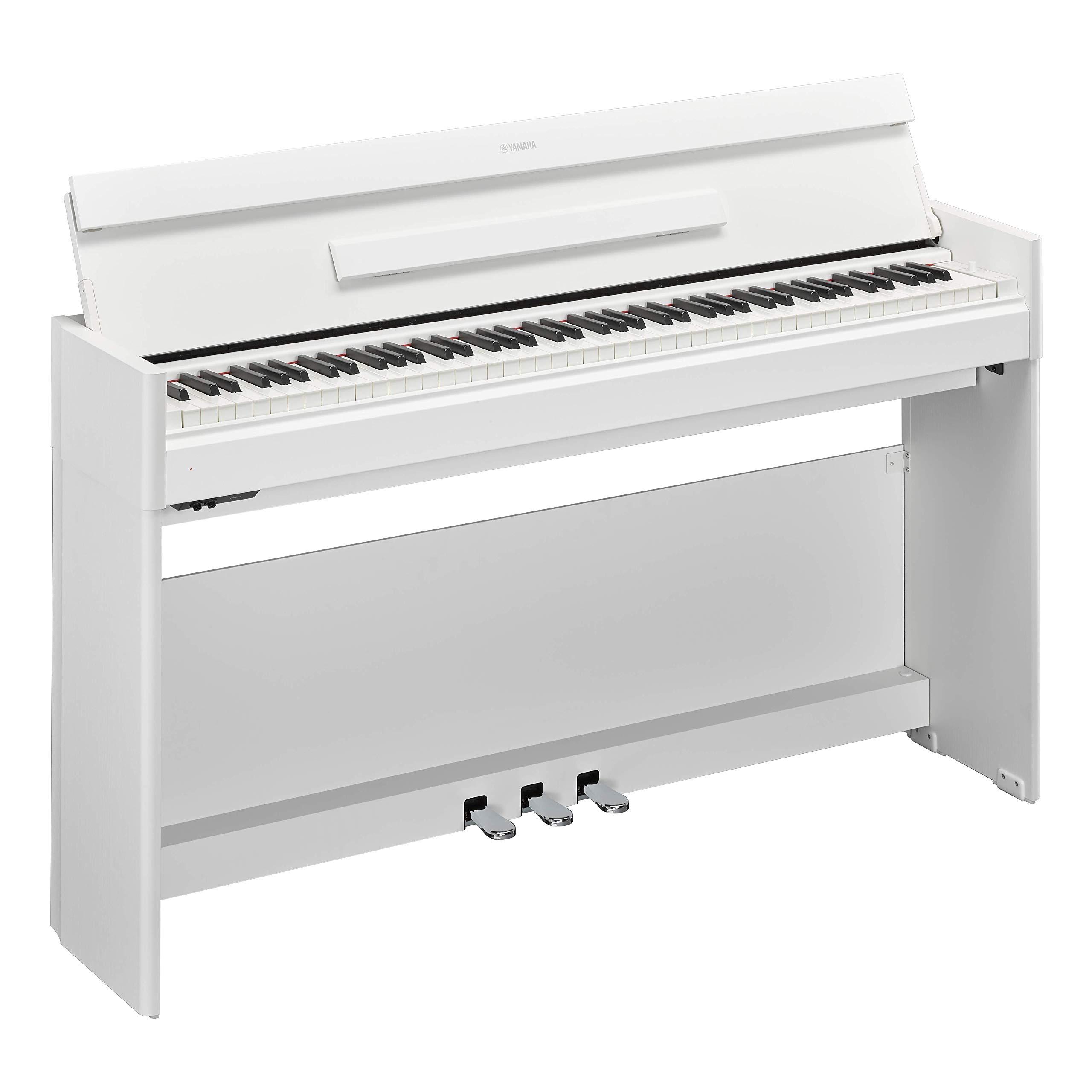 Yamaha YDPS54WH Arius Series Slim Digital Console Piano, Satin White by Yamaha