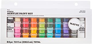 product image for Darice Acrylic Paint Pot Set: Matte, Assorted Sizes/Colors, 34 pack
